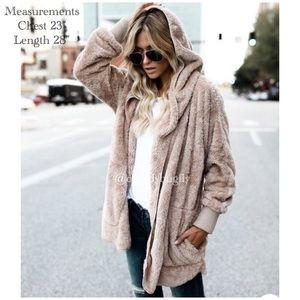 Cozy Warm Fuzzy Hooded Coat